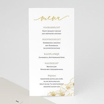 Menukaarten huwelijk - Golden Orchids - 0