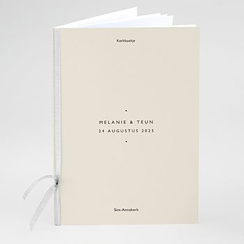 Boekomslag voor kerkboekje - Nude Chic - 0