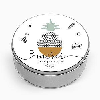 Personaliseerbare blikken doosjes - Tropische frucht - 0