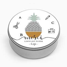 Personaliseerbare blikken doosjes Tropische Vruchten