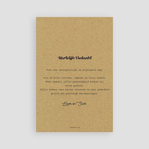 Bedankkaarten huwelijk Kraft Love pas cher