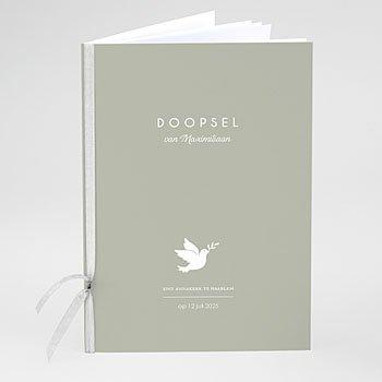 Boekomslag voor doopboekjes - Witte duif - 0
