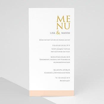 Menukaarten huwelijk - Sleekly Simple - 0