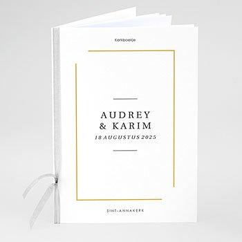 Boekomslag voor trouwboekjes - Wij Gaan Trouwen - 0