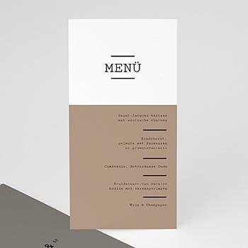 Menukaarten huwelijk - Cappuccino - 0
