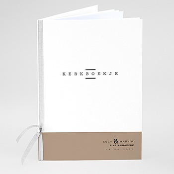 Boekomslag voor kerkboekje - Cappuccino - 0