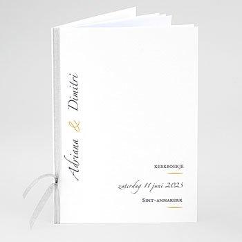 Boekomslag voor kerkboekje - Minimal Script - 0