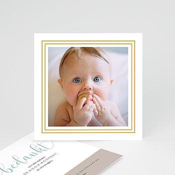 Bedankkaartje geboorte zoon Goud hallo