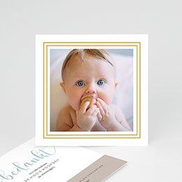 Bedankkaartjes Geboorte Goud hallo