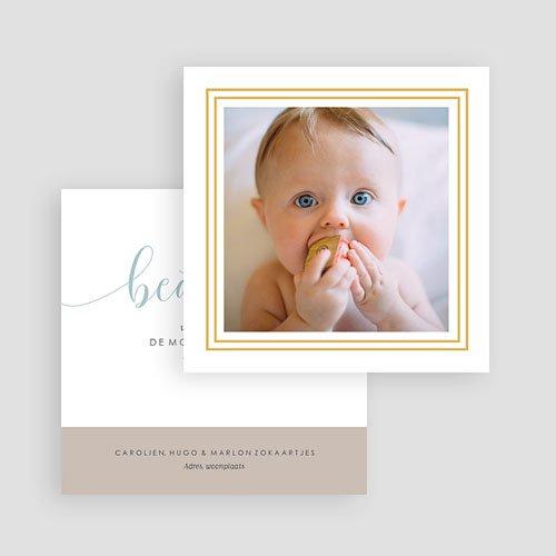 Bedankkaartje geboorte zoon Goud hallo gratuit