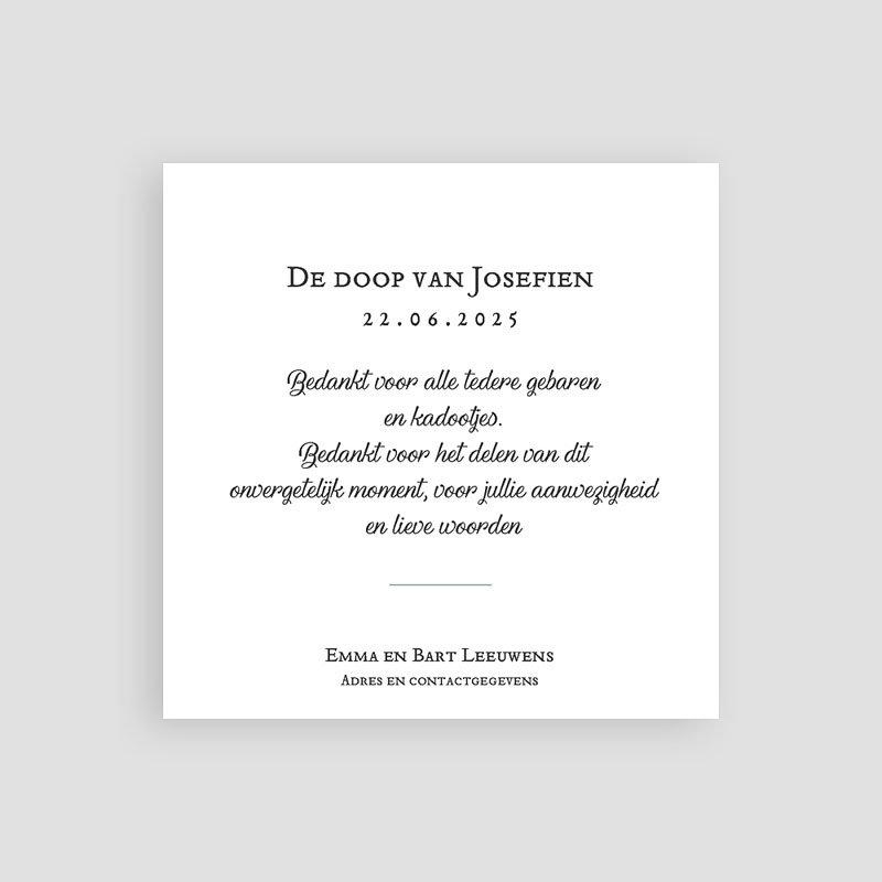 Klassieke bedankkaarten doopsel - Liberty Spirit 66298 thumb