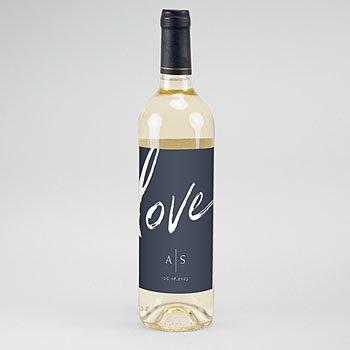 Etiket Voor Wijnfles - Love blue - 0