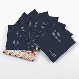 Tafelkaartjes huwelijk Color shades