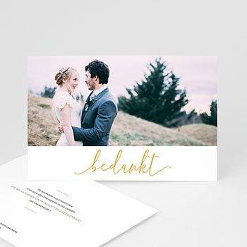 Chique bedankkaartjes huwelijk - Golden Orchids - 0