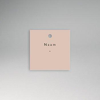 Tafelkaartjes huwelijk - Nude Chic - 0