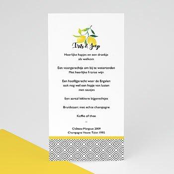 Menukaarten huwelijk - Citrusvruchten - 0