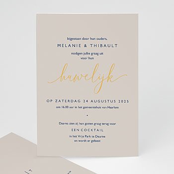 Chique trouwkaarten - Modern Minimalist - 0