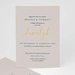 Aankondiging Huwelijk Modern Minimalist