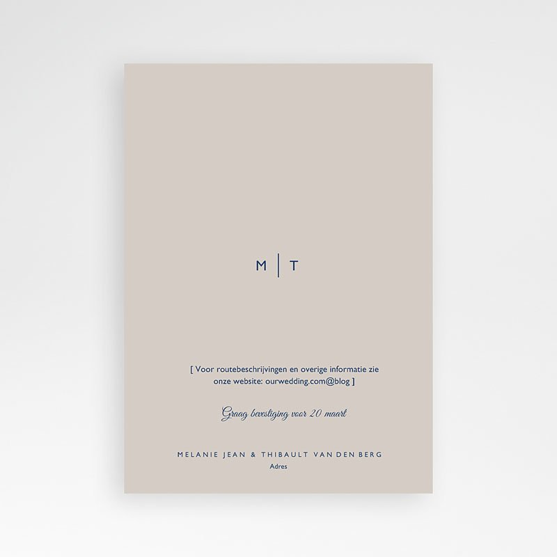 Trouwkaarten Modern Minimalist pas cher