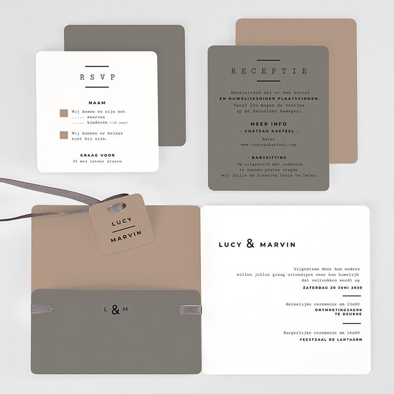 Creatieve trouwkaarten - Cappuccino 66570 thumb