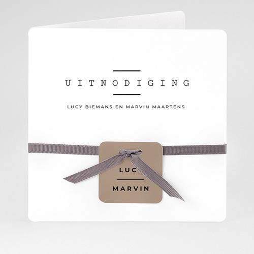 Creatieve trouwkaarten - Cappuccino 66571 thumb