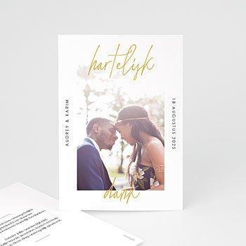Bedankkaarten huwelijk met foto - Wij Gaan Trouwen - 0