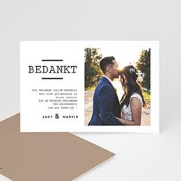 Bedankkaarten huwelijk met foto Cappuccino Latte