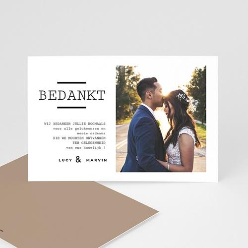 Bedankkaarten huwelijk met foto - Cappuccino Latte 66630 thumb