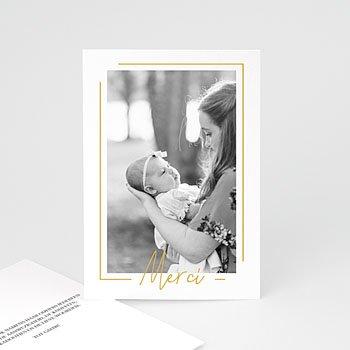 Bedankkaartje geboorte dochter - Baby Girl Gold - 0