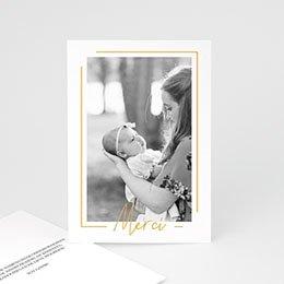 Bedankkaartjes Geboorte Baby Girl Gold