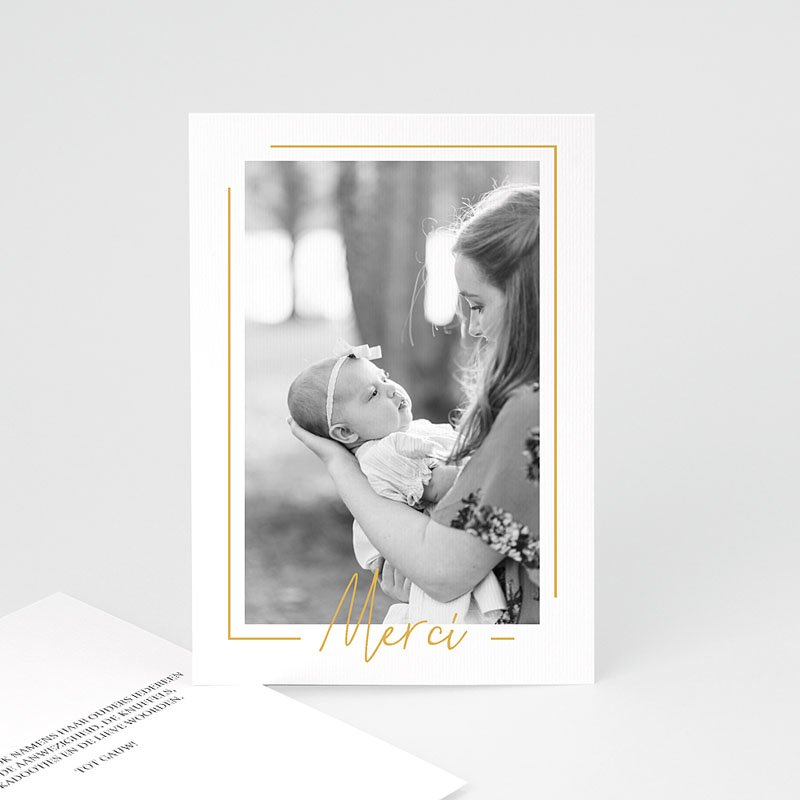 Bedankkaartje geboorte dochter - Baby Girl Gold 66657 thumb