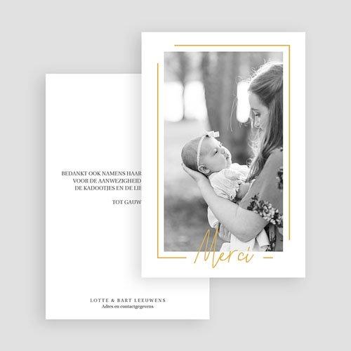 Bedankkaartje geboorte dochter - Baby Girl Gold 66659 thumb