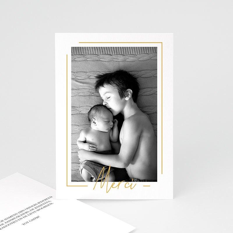 Bedankkaartje geboorte zoon - Baby Boy Gold 66666 thumb