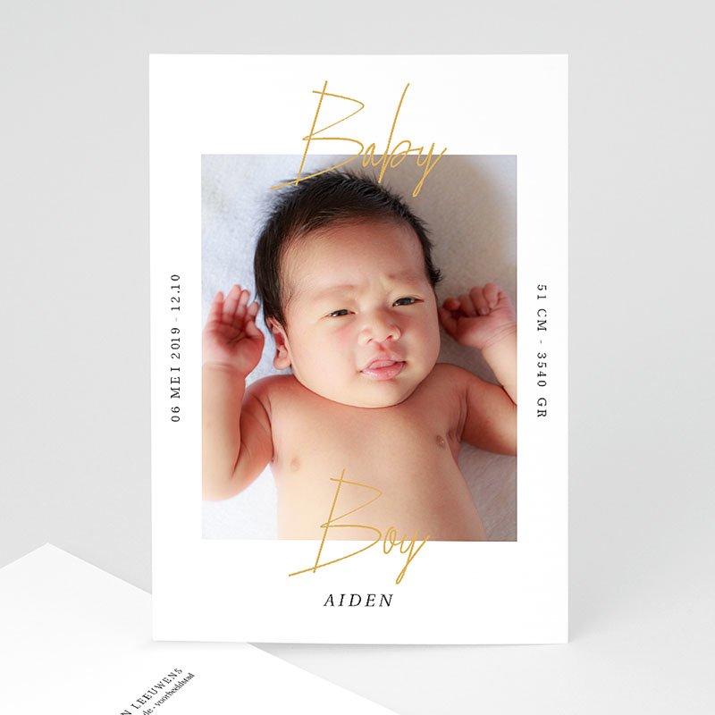 Geboortekaartjes Jongen Baby Boy Gold
