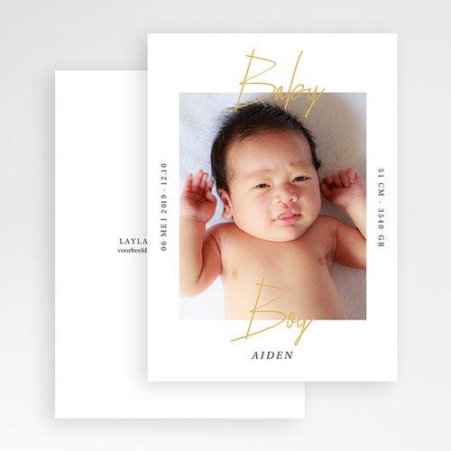 Geboortekaartjes Jongen Baby Boy Gold gratuit