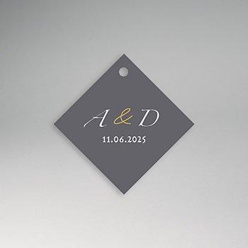 Etiket huwelijk - Minimal Script - 0