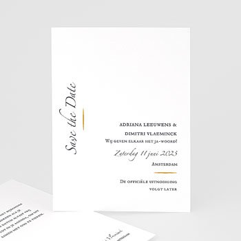 Save the date kaartjes - Minimal Script - 0