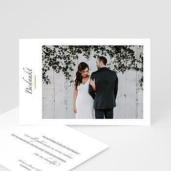 Exclusieve bedankkaarten huwelijk - Minimal Script - 0