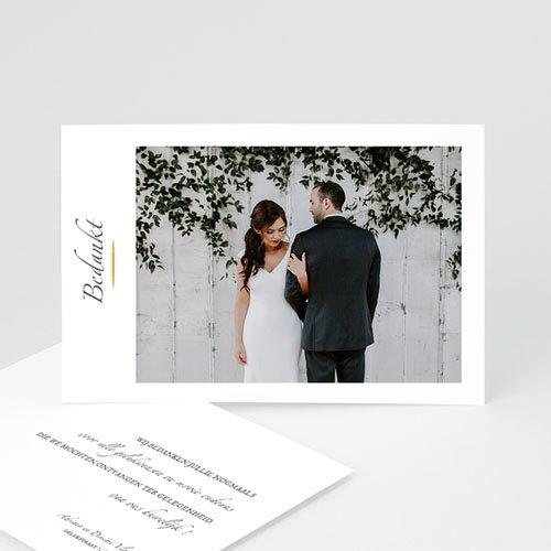 Klassieke Bedankkaartjes Bruiloft Minimal Script