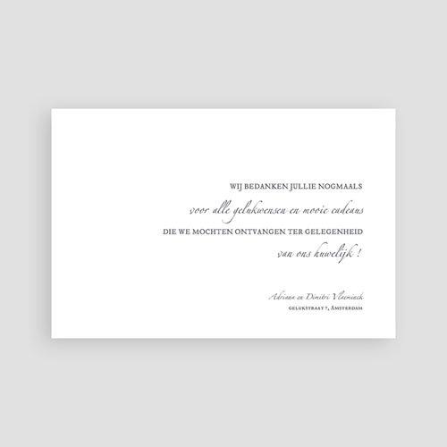 Klassieke Bedankkaartjes Bruiloft Minimal Script pas cher