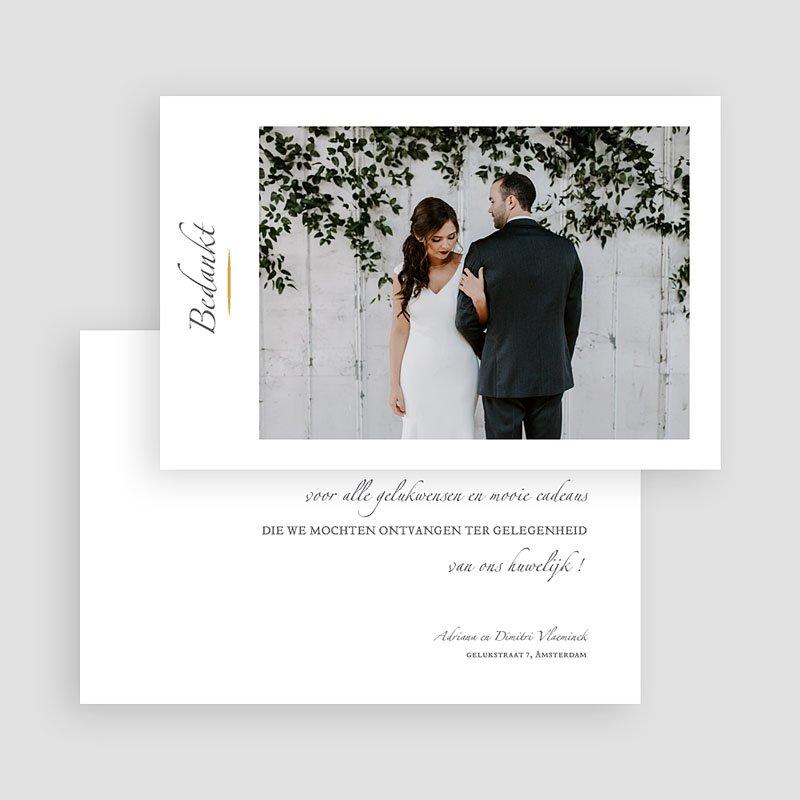 Klassieke Bedankkaartjes Bruiloft Minimal Script gratuit