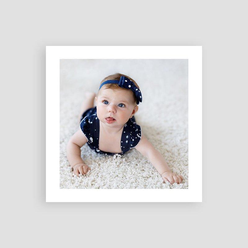 Bedankkaartje geboorte dochter - Pastel roze 66748 thumb