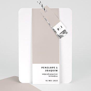 Creatieve trouwkaarten - Mokka Creme - 0