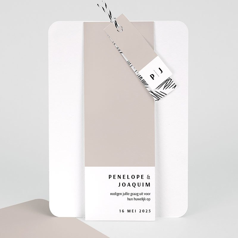 Creatieve trouwkaarten - Mokka Creme 66780 thumb