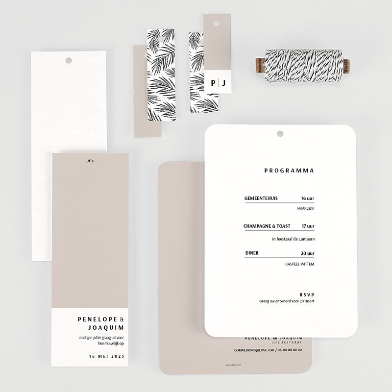Creatieve trouwkaarten - Mokka Creme 66782 thumb