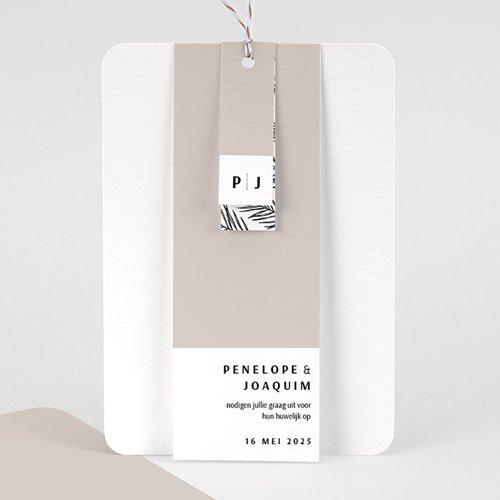 Creatieve trouwkaarten - Mokka Creme 66783 thumb