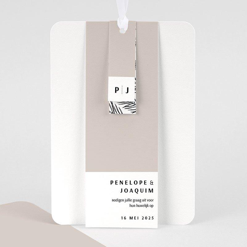 Creatieve trouwkaarten - Mokka Creme 66784 thumb