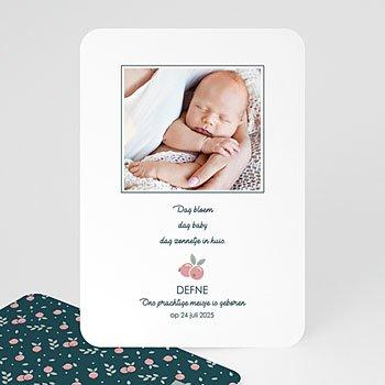 Geboortekaartjes met foto - Wild Berry - 0