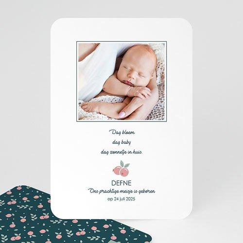 Geboortekaartjes met Foto Wild Berry