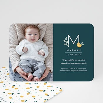 Geboortekaartje jongen - Precious Lemon - 0
